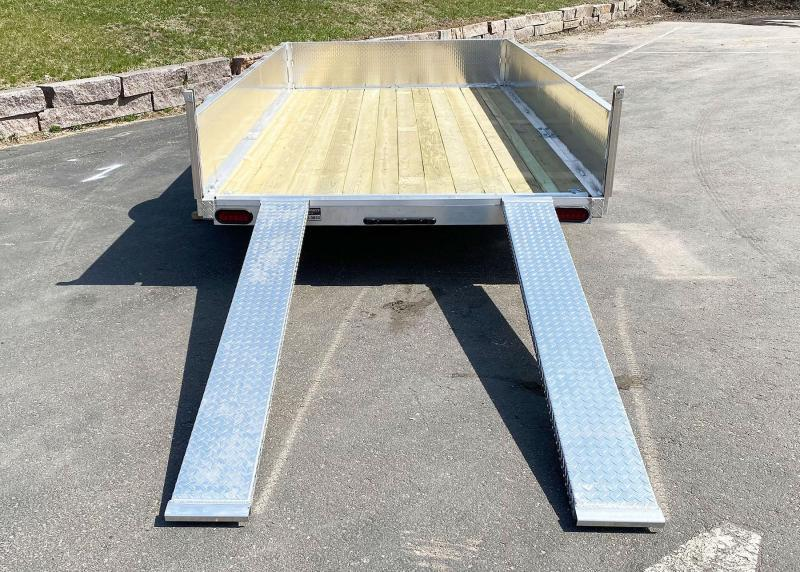 Quality Trophy 6.5x12 Aluminum Utility Trailer - Stacked Ramp Tailgate!