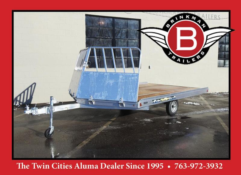 Aluma 8612D-12 Aluminum Snowmobile Trailer w/ Drive On/Off Salt Shield