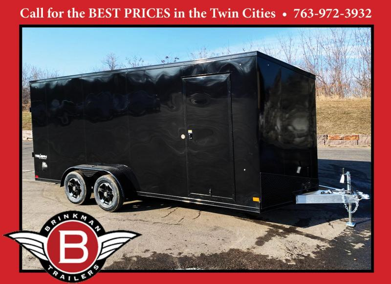 Formula 7x18 Triumph Aluminum Enclosed Trailer - BLACK OUT PKG!