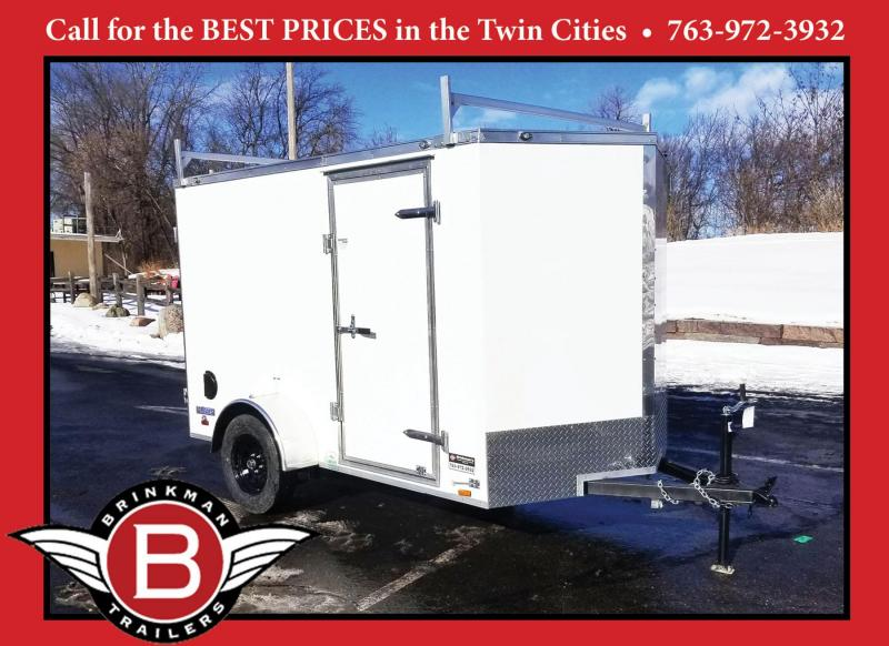 Continental 6x10 Enclosed Contractor Trailer - Ladder Racks - DBL Door