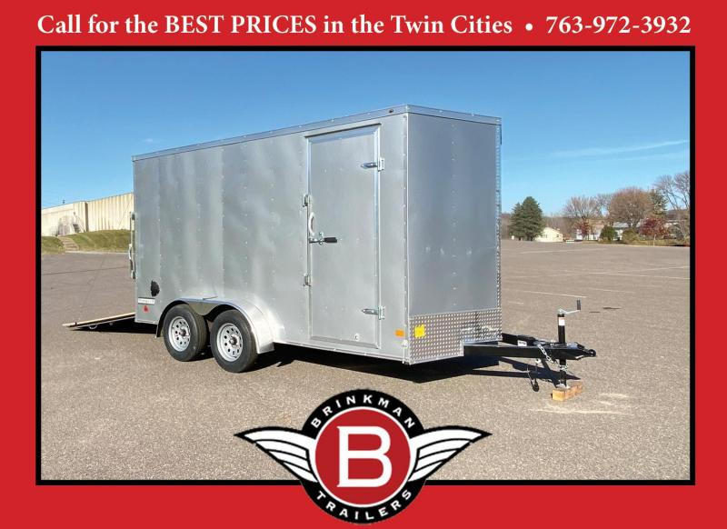 Haulmark 7 x 14 Enclosed Trailer with 7' Interior and Rear Ramp! UTV!