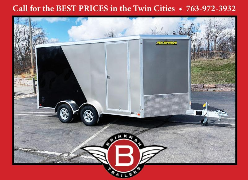 ALUMA 7.5X14 (14'+3.5'V) Aluminum Enclosed Trailer - 7' Int. - UTV