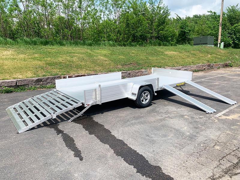 Aluma 8115 SR Aluminum ATV Trailer - Bi-Fold Ramp!