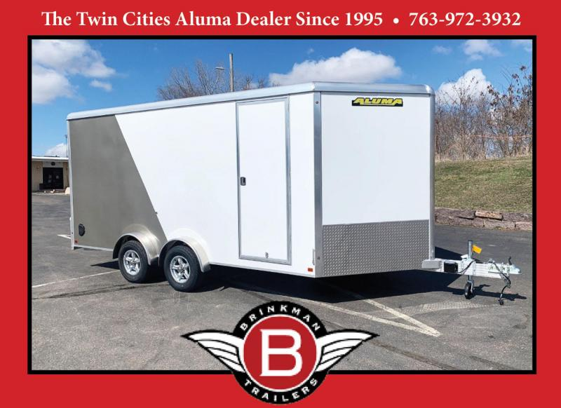 ALUMA 7.5X16 (16'+3.5'V) Aluminum Enclosed Trailer - 7' Int. - UTV