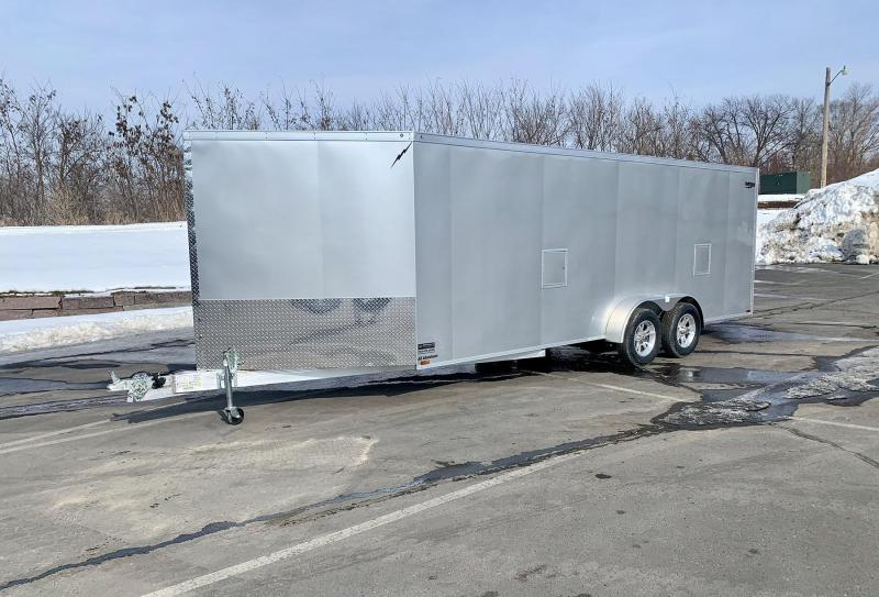 Lightning 7x25 Aluminum Enclosed Snowmobile Trailer