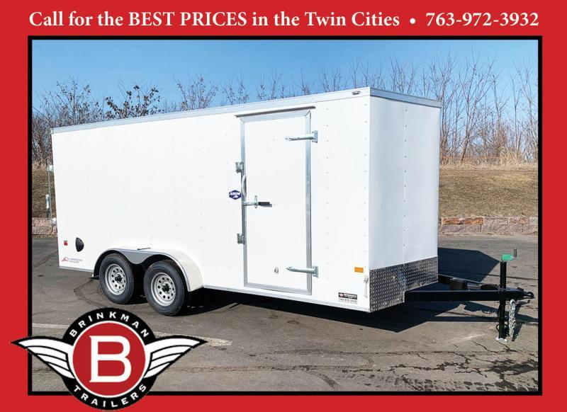 American Hauler 7x16 Enclosed Cargo Trailer - Rear Ramp - 7' Interior!