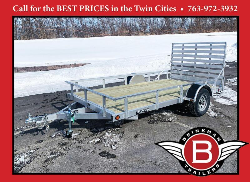 Trophy 6.5 x 12 Aluminum Torsion Utility Trailer - Rear Ramp
