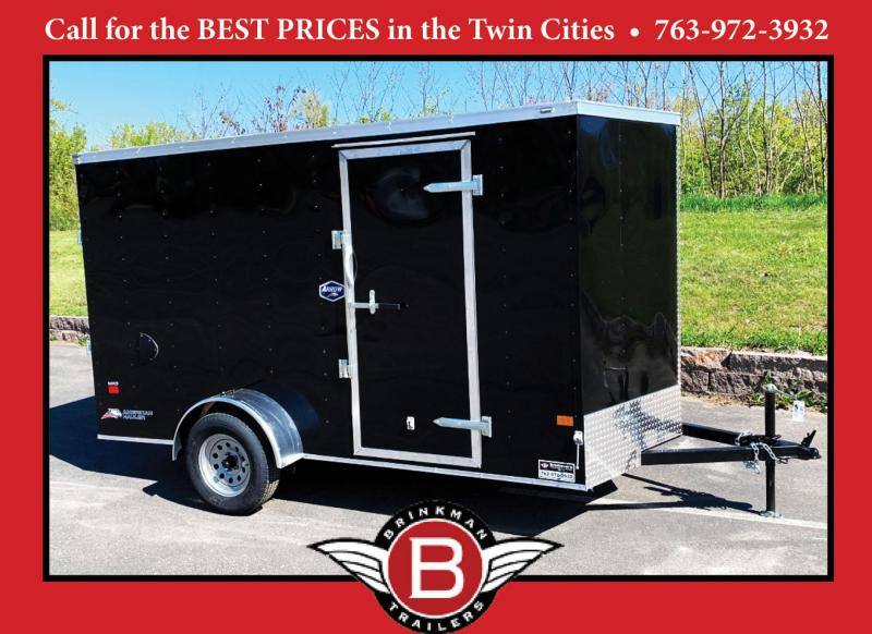 Continental Cargo 6x12 Enclosed Trailer - DBL Rear Doors!