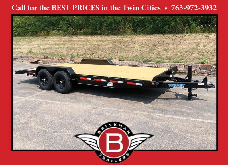 Top Quality Top Hat 83x20 Car/Bobcat Equipment Trailer - 14000# GVWR!