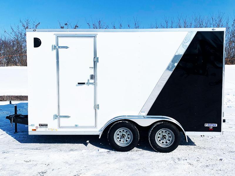 Continental Cargo 7x14 V-Nose 7Ft Interior Enclosed UTV Trailer w/ Rear Ramp