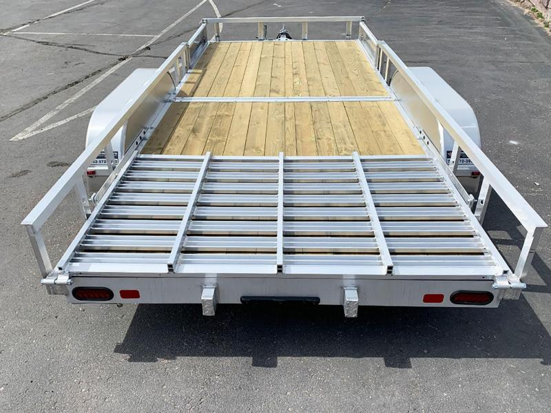 Quality Trophy 7x16 Aluminum Utility Trailer - Rear Ramp!