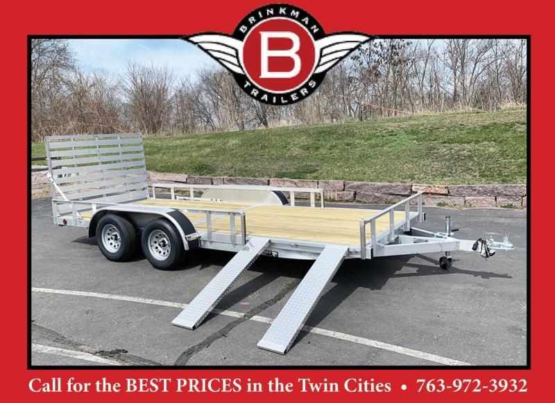 Quality Trophy 7x16 Aluminum Utility Trailer - Rear Ramp!