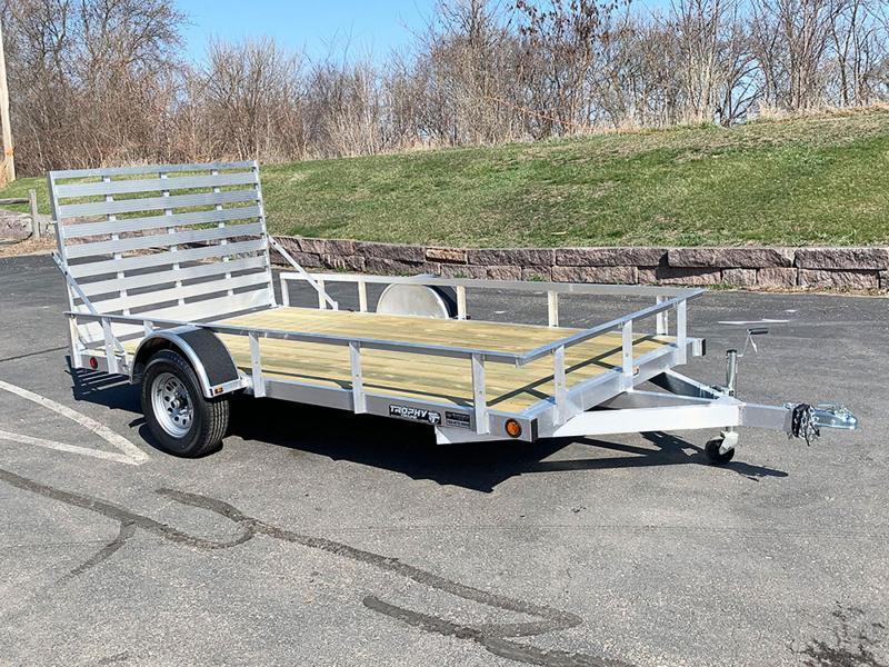 Quality Trophy 6.5x12 Aluminum Utility Trailer - Rear Ramp!