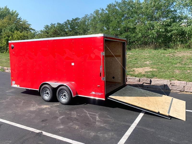 "American Hauler 7x16 Enclosed Trailer - 6'6"" Int. - Rear Ramp!"