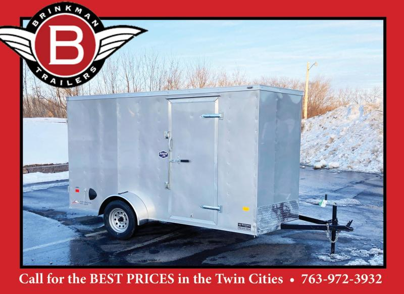 "American Hauler 6x12 Enclosed Cargo Trailer - 6'6"" Interior - DBL Rear Doors"
