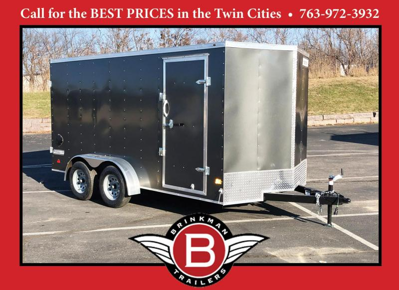 "Haulmark 7 x 14 Enclosed Trailer with 6'6"" Interior and DBL Doors!"