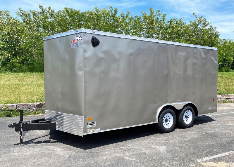 "American Hauler 8.5x16 Enclosed Car Trailer - 6'6"" Int. - Rear Ramp!"