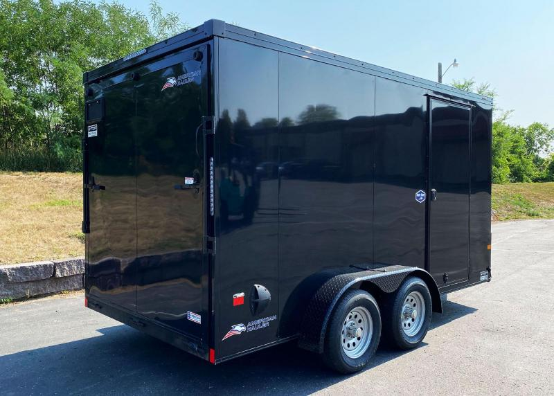 Deluxe NightHawk American Hauler 7x14 Enclosed Trailer - Black Out Package!