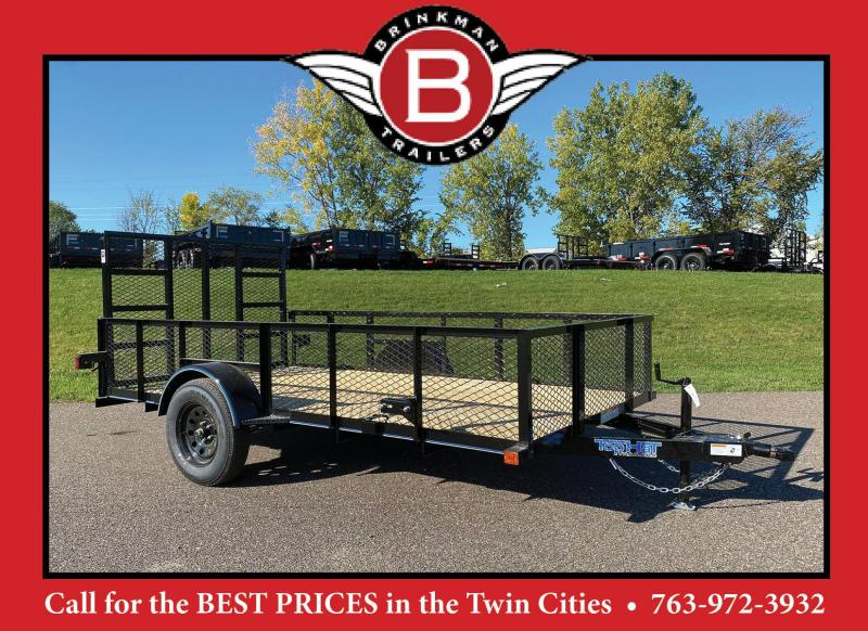 """Top Quality Top Hat 77x12 Utility Trailer - 24"""" Mesh Sides - Rear Ramp!"""