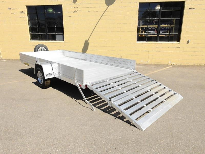 Aluma 8114 SR ATV/UTV Trailer Bi-fold Rear Ramp and Side Load Ramps!