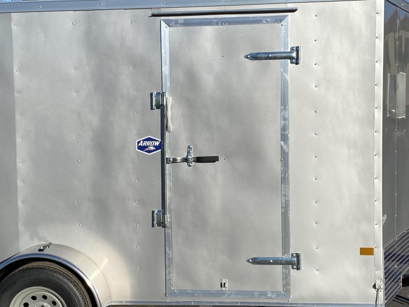 American Hauler 6x12 Enclosed Trailer - 6'6 Interior- Rear Ramp Door!