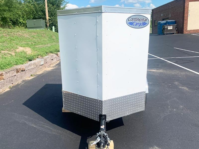 Continental Cargo 4x6 Enclosed Trailer - V-Nose Front!