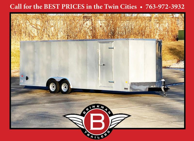 American 8.5x24 Enclosed Cargo Car Trailer - Rear Ramp- 7' Interior
