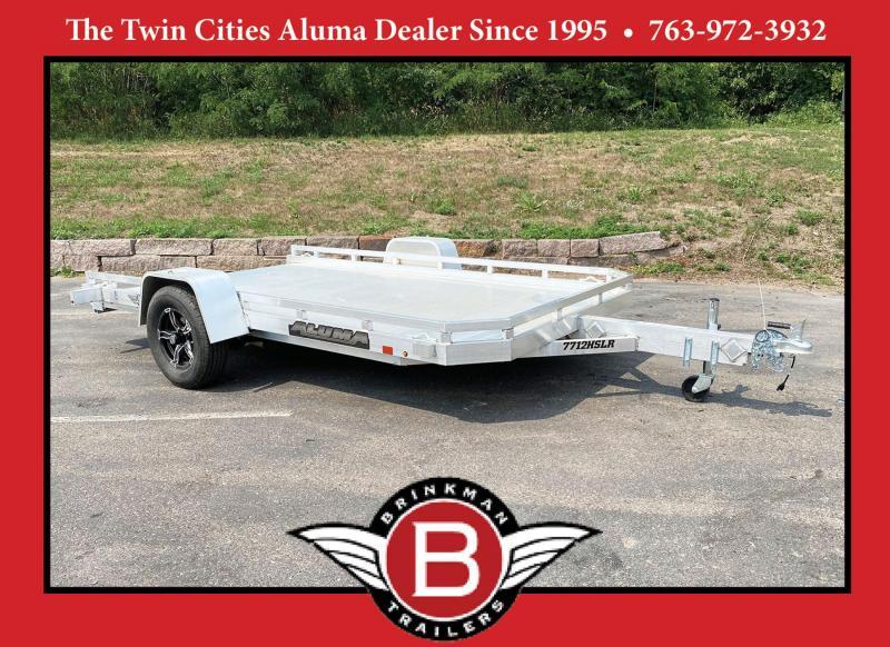 Aluma 7712HSLR Aluminum Trailer - Tuck Under Ramp!