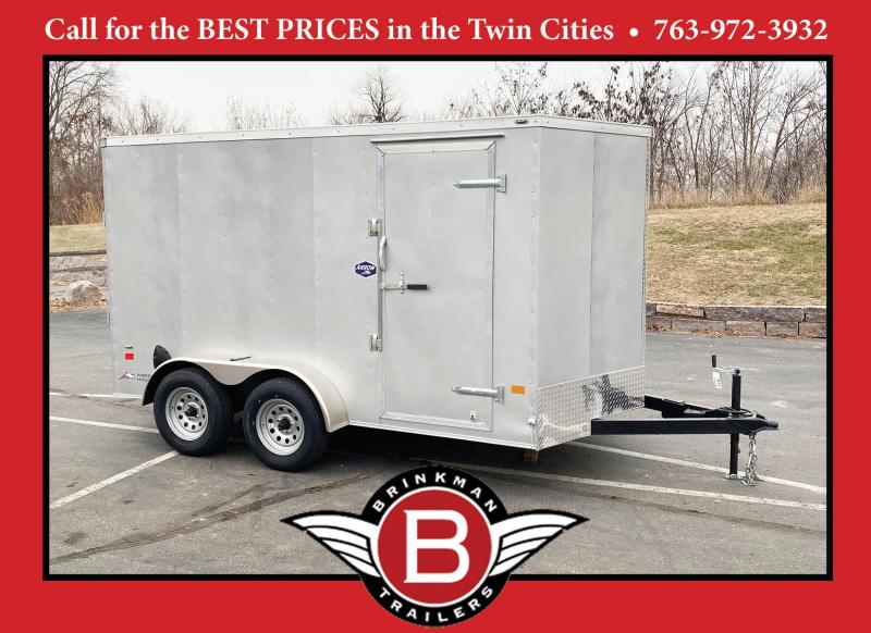 "American Hauler 7x12 Enclosed Cargo Trailer - Rear Ramp- 6'6"" Interior"