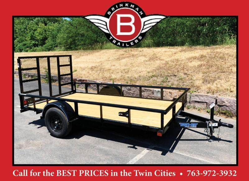 """Top Quality Top Hat 77x12 Utility Trailer - 48"""" Full Rear Ramp!"""