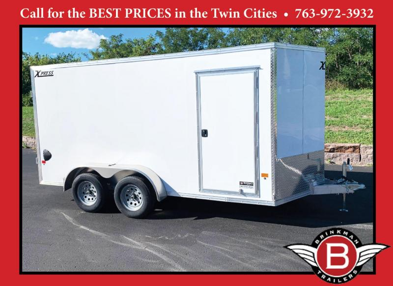 Premium High Country 7x14 Aluminum Enclosed Cargo Trailer - DBL Rear Doors!