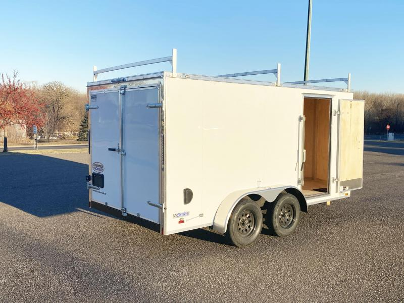 Continental 7 x 14 Contractor Trailer w/ Ladder Racks - Dbl Doors!