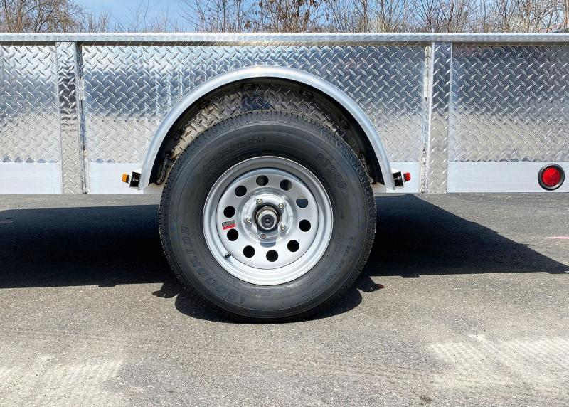 Quality Trophy 6.5x10 Aluminum Utility Trailer - Stacked Ramp Tailgate!