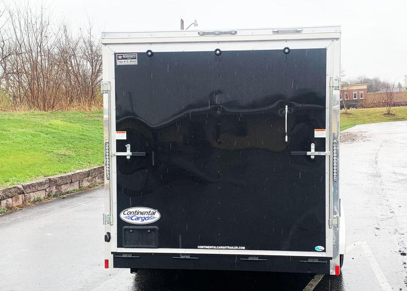 Continental 7.5x16 Enclosed Trailer - 7' Int. - Rear Ramp!