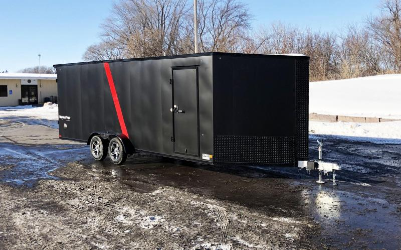Formula 7x27 (22'+5'V) Aluminum Enclosed Snowmobile Trailer - 7' Int.