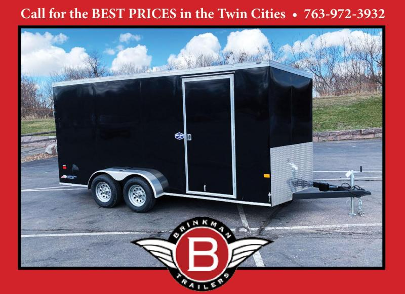 Deluxe American Hauler 7x16 Enclosed Trailer - 7' Int. - Rear Ramp!