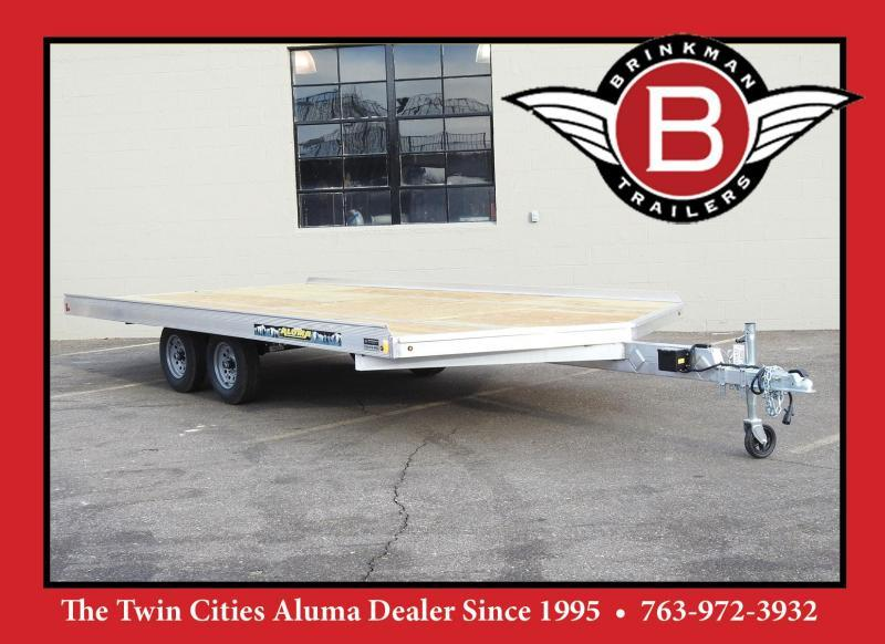 Aluma 8616 8.5x16 3-Place Aluminum Snowmobile Trailer with Brakes