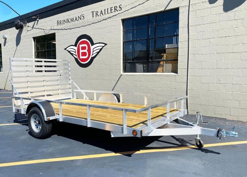 Quality Trophy 6.5x12 Aluminum Utility Trailer - Full Ramp!