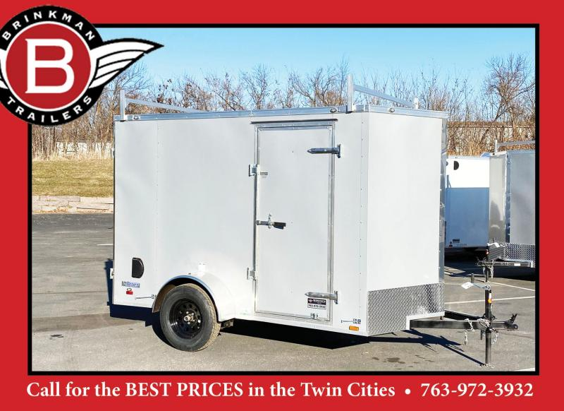 Continental 6x10 Enclosed Contractor Trailer  -Ladder Racks-DBL Door