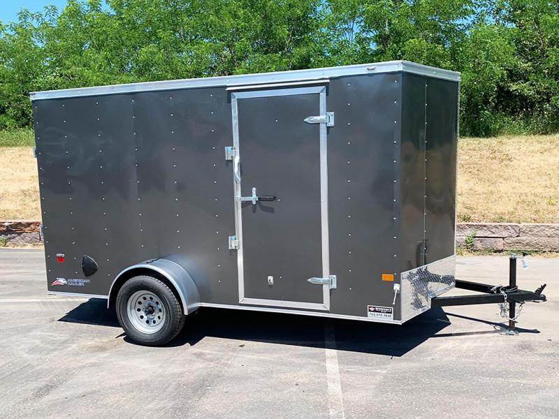 "Deluxe American Hauler 6x12 Enclosed Trailer - 6' 6"" Int. - Rear Ramp!"