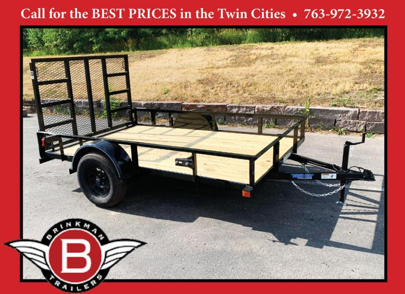 Top Quality Top Hat 77x10 Utility Trailer - Rear Ramp!