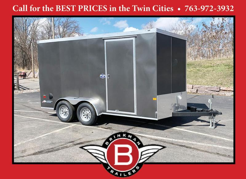 American Hauler 7x14 Enclosed Trailer - 7' Int. - Rear Ramp!