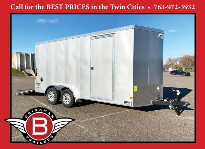 Deluxe 2021 Haulmark 7x16 Enclosed Cargo Trailer 7' Inteiror & Rear Ramp Door