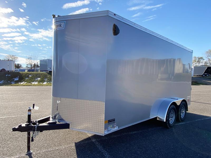 Deluxe Haulmark 7x16 Enclosed Cargo Trailer 7' Interior & Rear Ramp Door