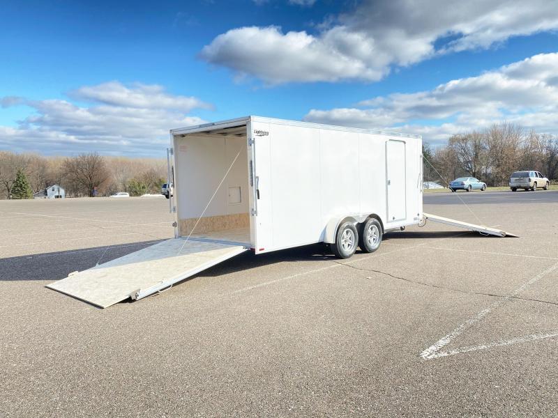 Lightning 7x23 (18'+5' V) Aluminum Enclosed Snowmobile Trailer