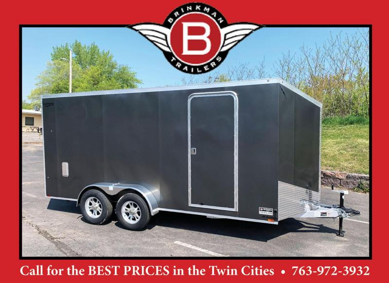 "Lightning 7x16 Aluminum Enclosed Trailer - 6'8"" Int. - Rear Ramp!"