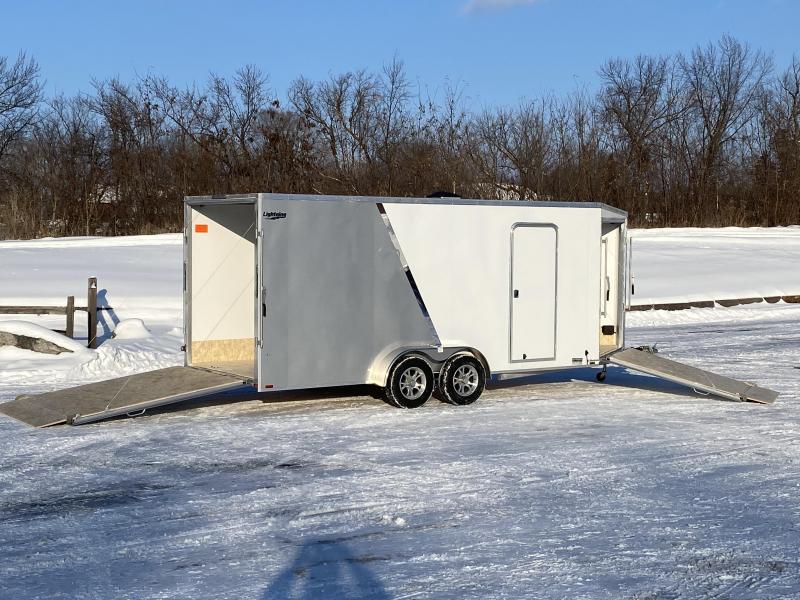 Lightning 7x23 Aluminum Enclosed Snowmobile Trailer - 7' Interior -UTV