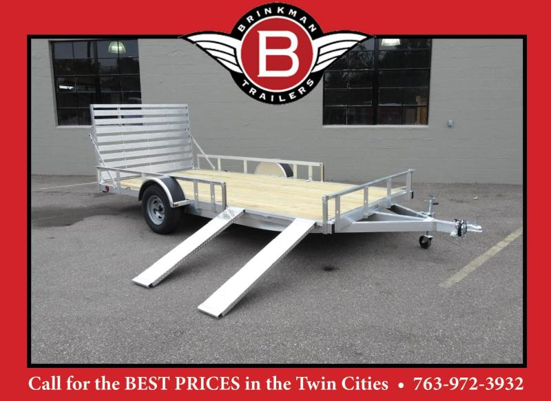 Trophy 7 x 14 Aluminum ATV/UTV Trailer w/ Side Ramps -Rear Ramp