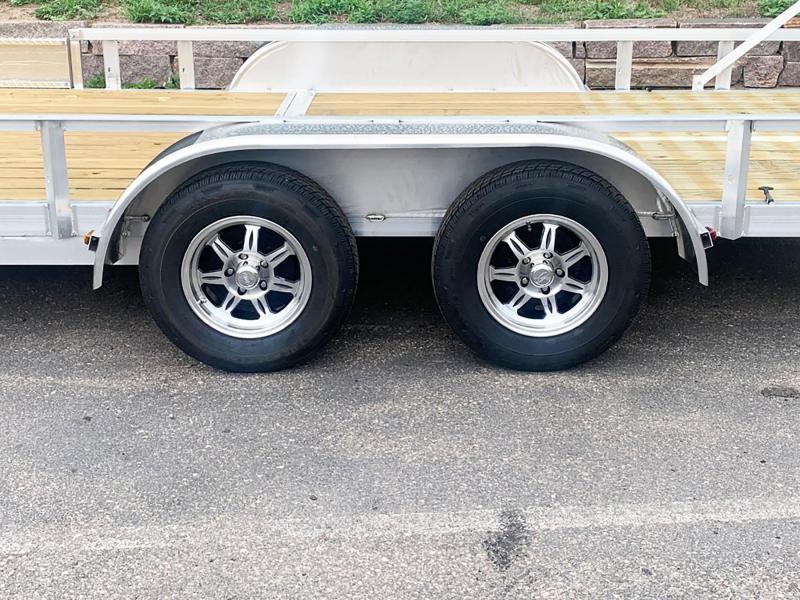 Trophy 7x16 Aluminum Tandem Torsion Axle ATV/Utility Trailer - Upgraded Rims!
