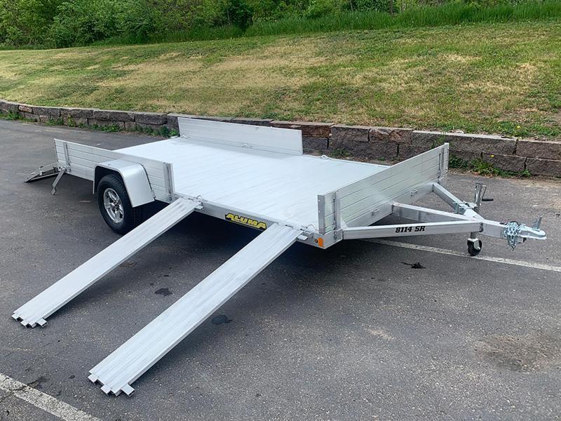 Aluma 8114SR Aluminum ATV Trailer - Side Ramps!